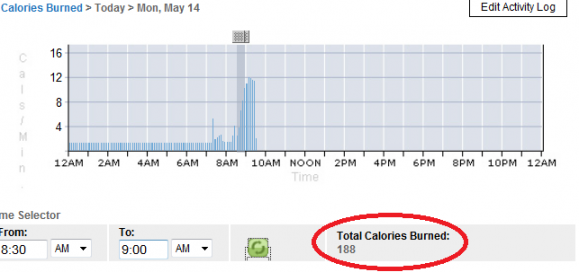 calorie burn on kinect