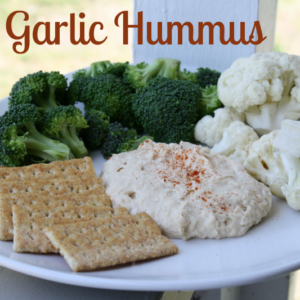 easy garlic pepper hummus recipe