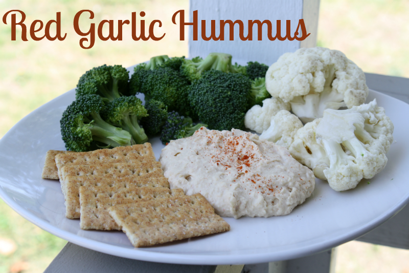 easy garlic pepper hummus recipe