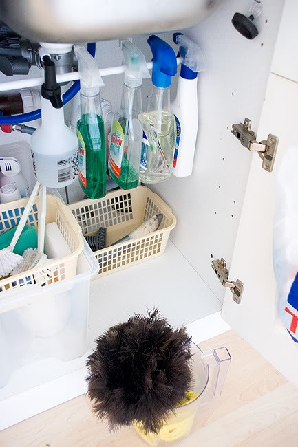 organize under the sink