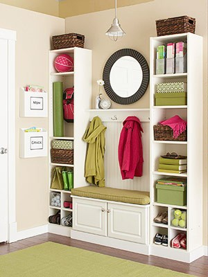 entry way organization