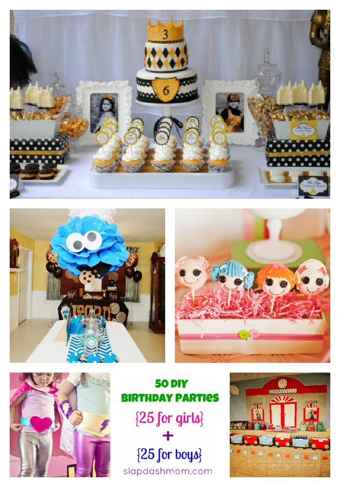 50 Birthday Party Ideas {25 for Girls + 25 for Boys}