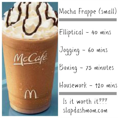 how many calories to burn off a frappe