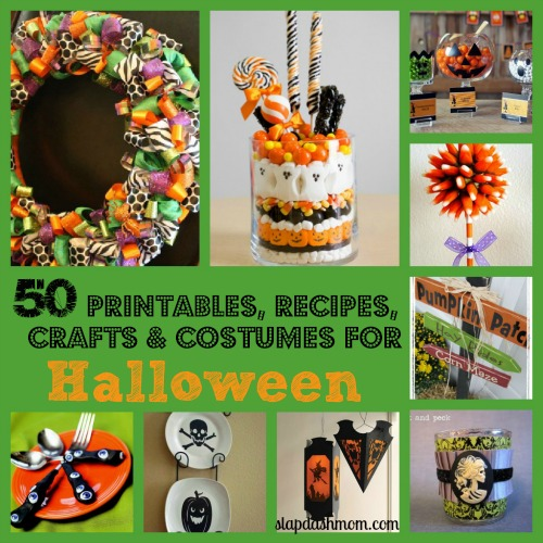 50 Halloween Crafts Recipes Printables and More!