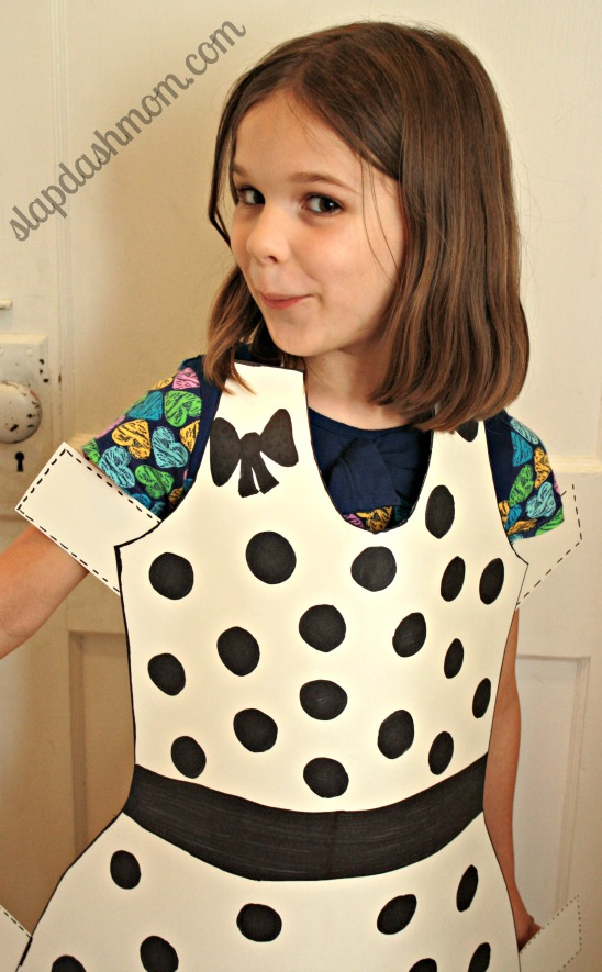 under $5 diy halloween costumepaper doll