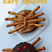 easy spider halloween cookies