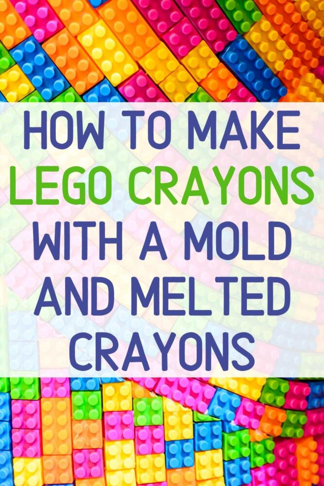 These DIY Lego Crayons will be a hit for your lego lover! Learn how to make lego crayons in just a few easy steps! You can use new crayons, but obviously if you have a ton of broken crayons those would be best!