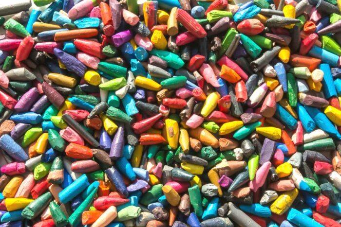 broken crayons for legos