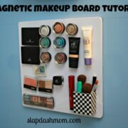 magnetic makeup board tutorial diy
