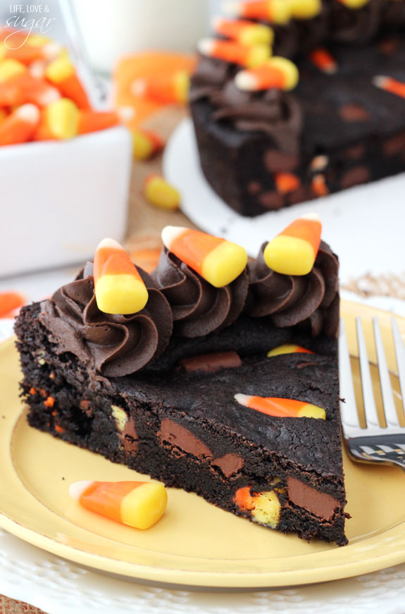 leftover halloween candy corn cake