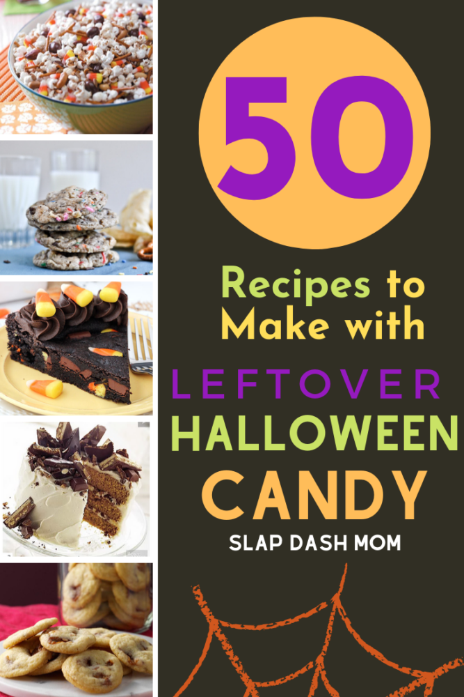 50 Amazing Recipes to use that leftover Halloween candy with! Some of these your may want to put on your dessert list to use throughout the year! #halloween #candy #desserts #sweets #halloweencandy