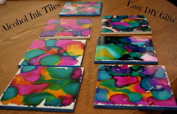 Alcohol Ink coasters project