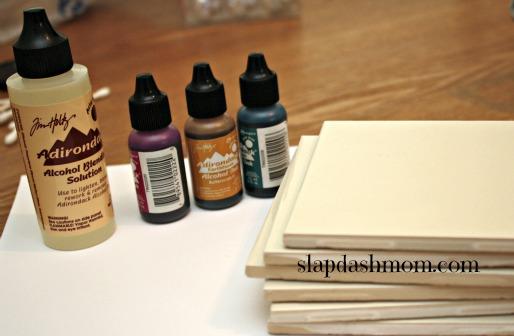 alcohol ink diy tiles