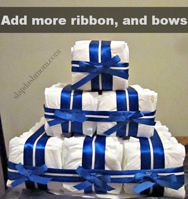 cheap diaper cake tutorial