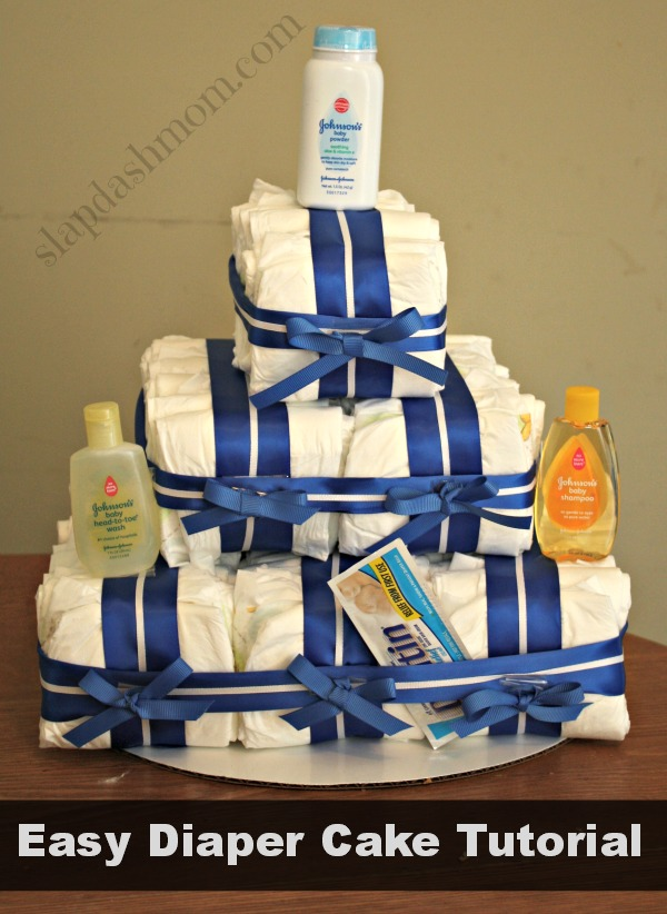easy diaper cake tutorial