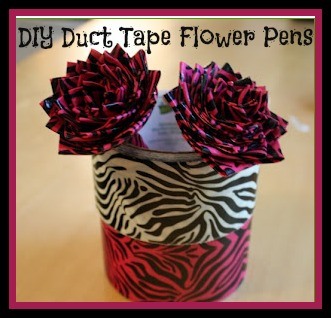 duct tape flower pen tutorial