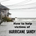 how to help hurricane sandy victims