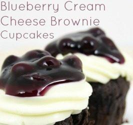 Blueberry Cream Cheese Brownie Cupcake Recipe
