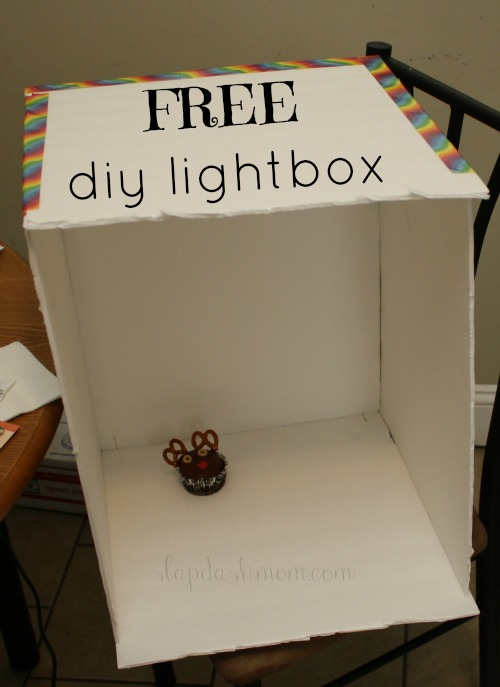 easy free diy lightbox slap dash mom. Black Bedroom Furniture Sets. Home Design Ideas