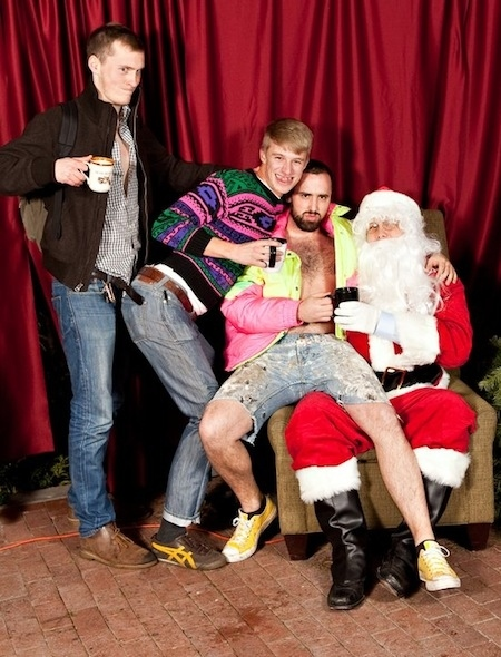weird santa photos