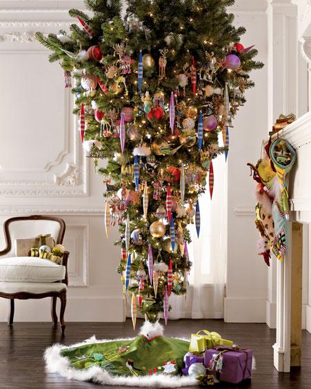 upside down christmas tree idea