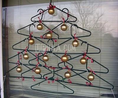 christmas tree with hangers