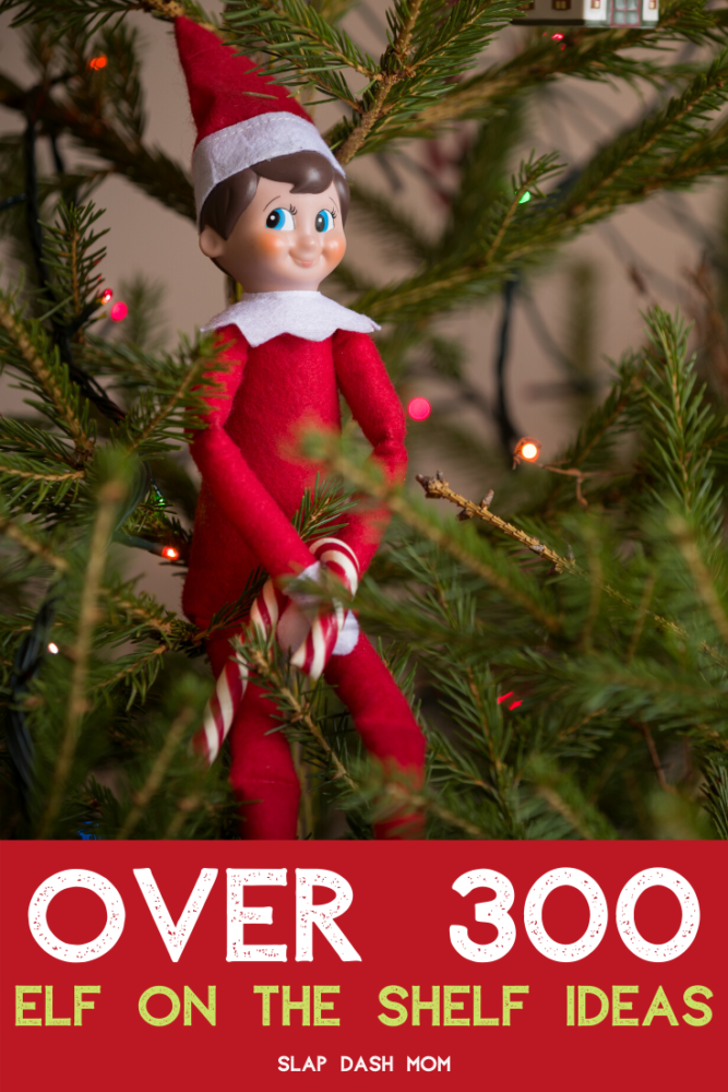 300+ Elf on the Shelf ideas including arrivals, funny and mischief and super easy! These ideas will get you through the elf season with no problem!