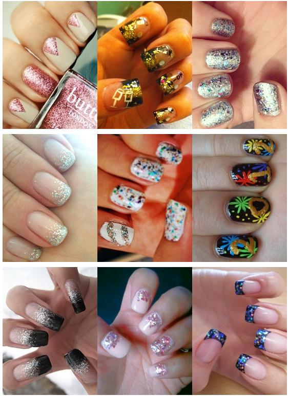 festive new years eve nail art
