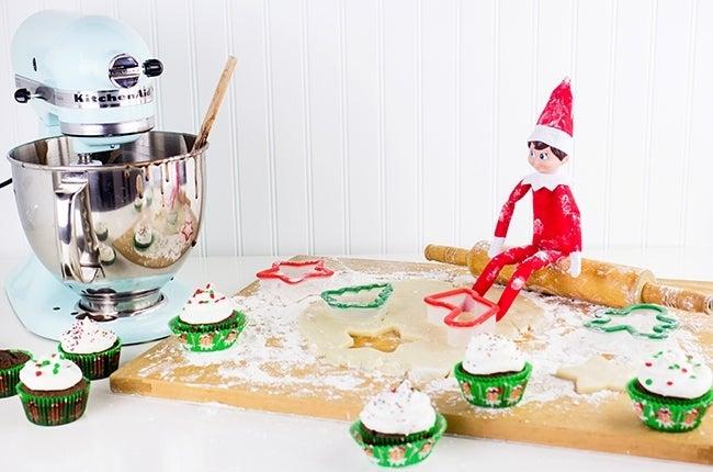elf on the shelf idea for baking fiasco