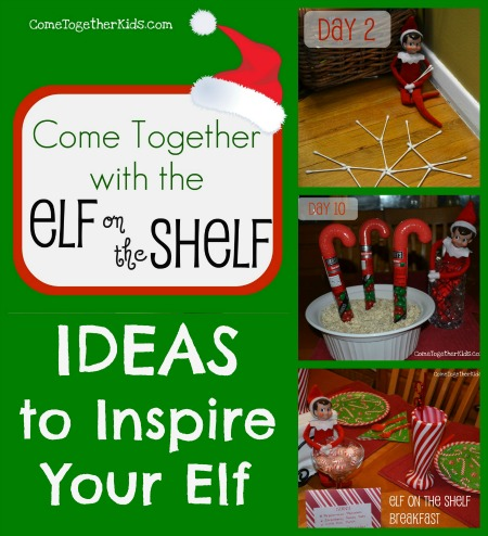 elf on the shelf ideas collage