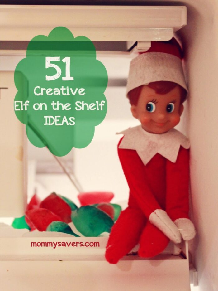 elf on the shelf with text overlay