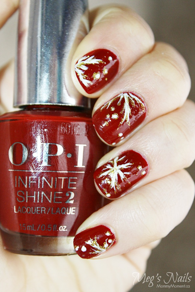 red new years eve nails