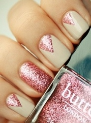pink new years eve nails