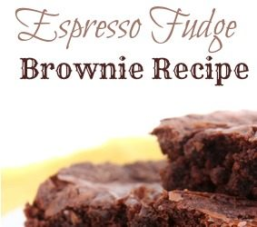Espresso Fudge Brownie Recipe