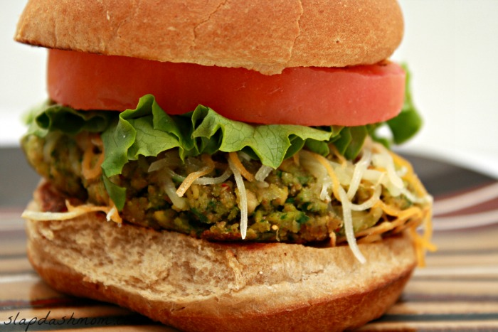 Spinach and Chickpea Veggie Burger Recipe