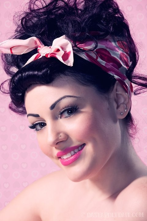 pin up valentines day look