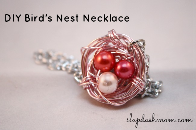 DIY Bird Nest Necklace