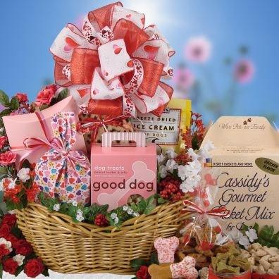 dog gift basket valentines day