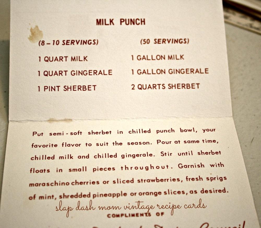 vintage recipe milk punch