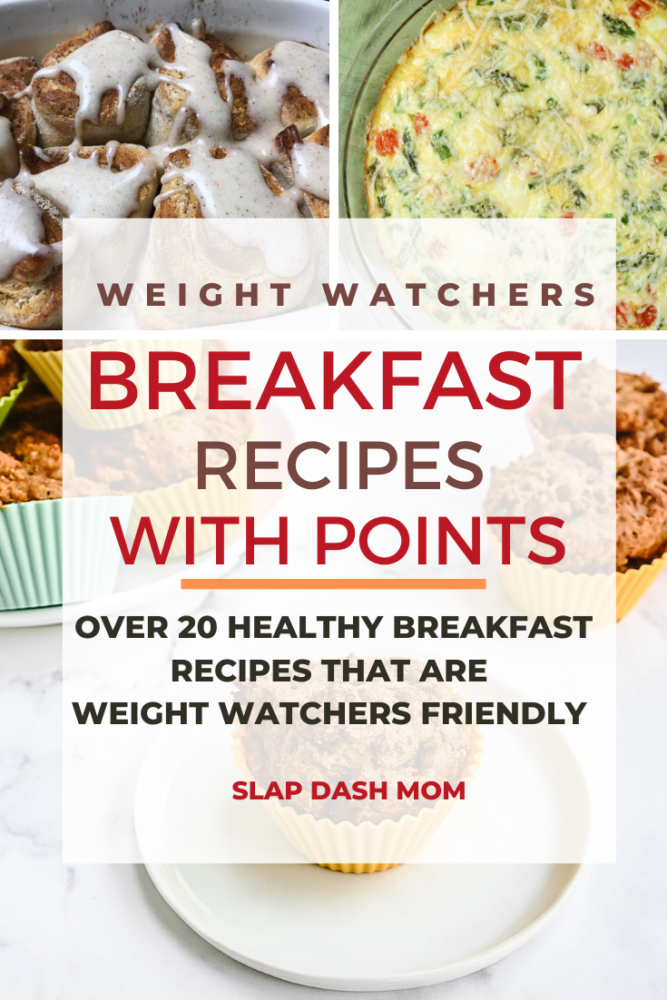 A collection of Weight Watchers Breakfast Recipes-perfect for on the go and includes Smartpoints values! Most of the WW Breakfast ideas are easy to make and can be cut down to 1 serving if you are only needing meals for 1! #ww #weightwatchers #healthy #breakfast