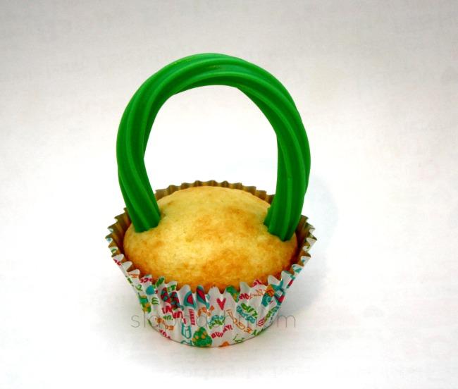 Easy Easter Basket Cupcakes