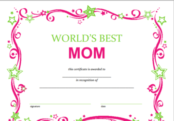 free mothers day printable certificate