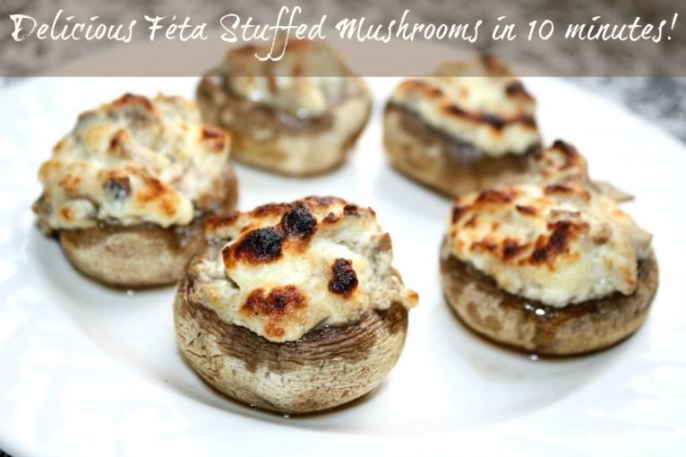 Feta- Stuffed Mushrooms Recipe — Dishmaps