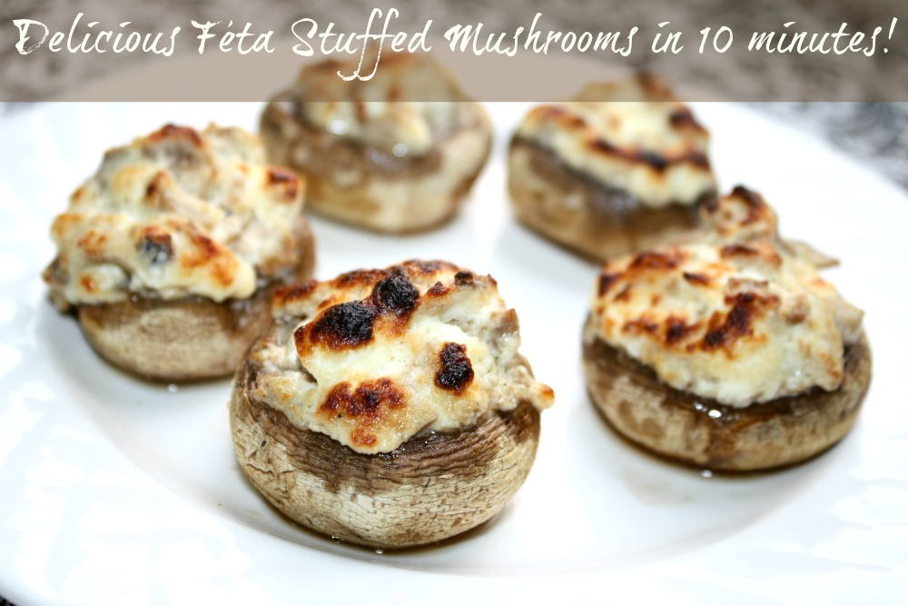 Feta Stuffed Mushrooms Recipe