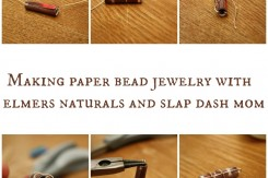Paper Bead Earrings Tutorial