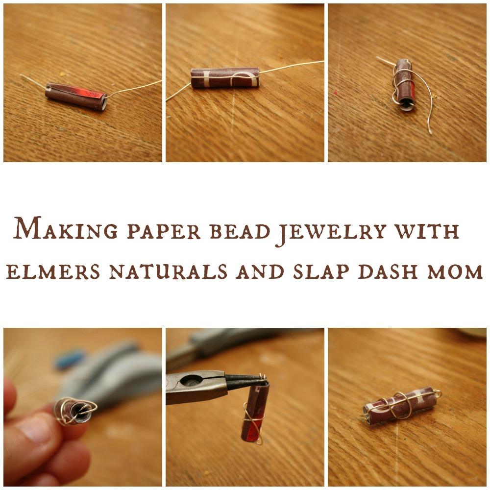 Paper Bead Earrings Tutorial