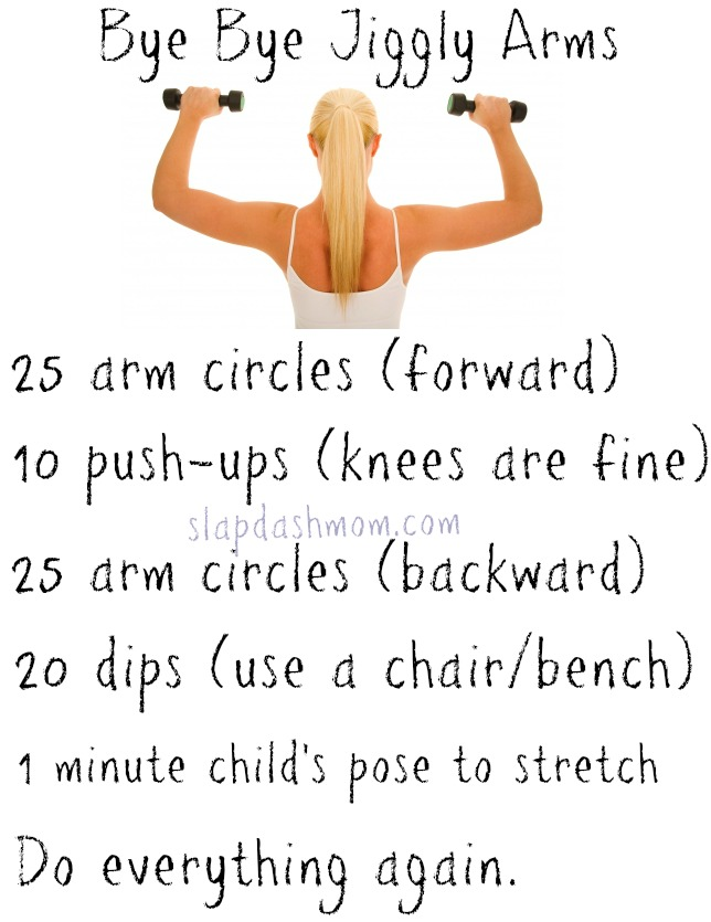 Bye Bye Jiggly Arms Workout