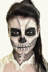 easy sugar skull makeup  slap dash mom