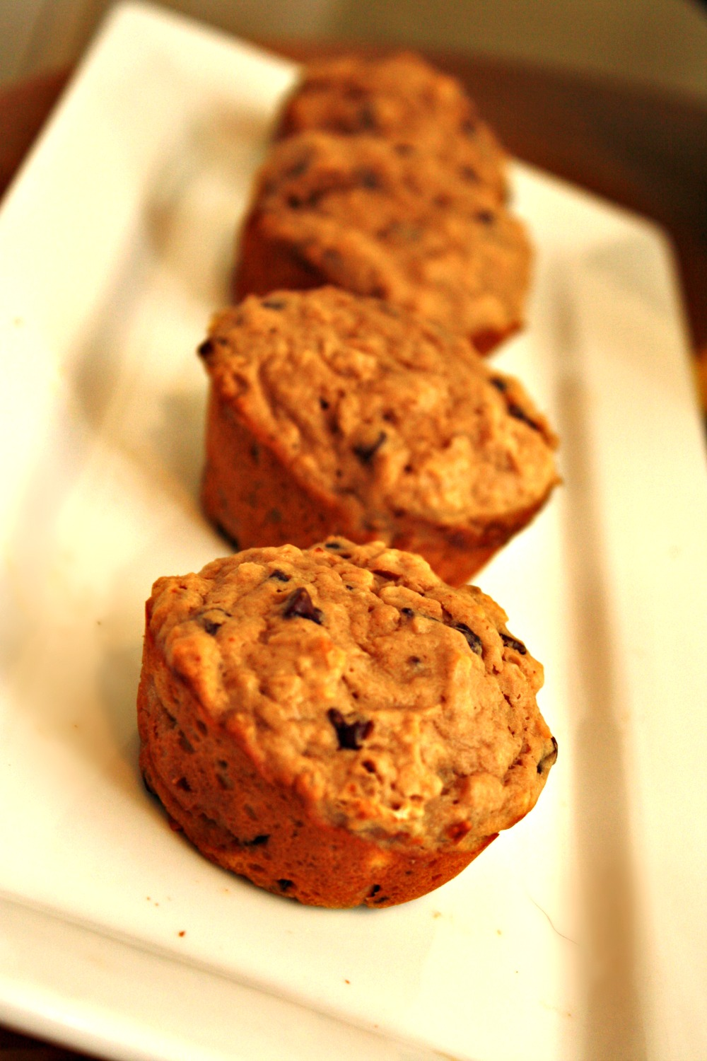 Oatmeal Peanut Butter Chocolate Chip Muffins