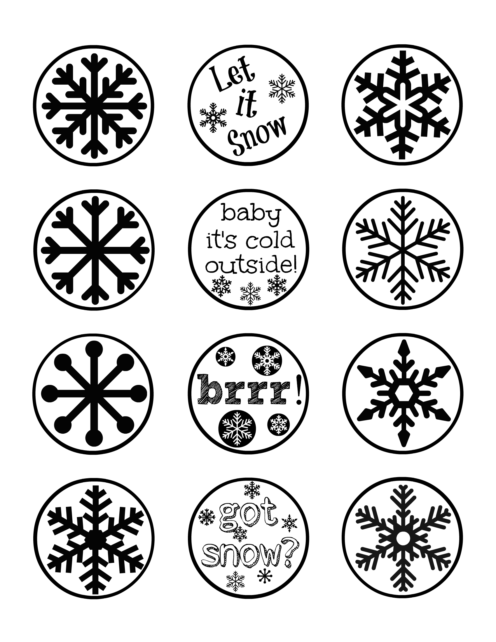 Free Holiday Cupcake Toppers